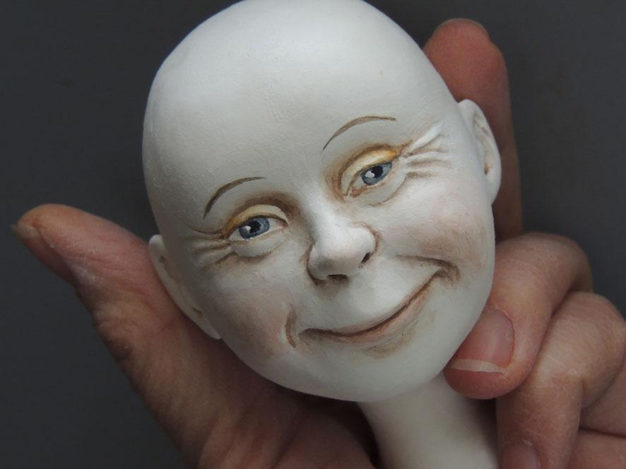 """Мастер-класс Марлен Верхельст """"Отображение эмоций при лепке лица куклы"""""""